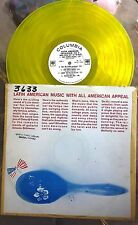 LATIN PROMO SAMPLER LP Yellow Vinyl COLUMBIA O'Farrill, Santanera, Sanchez et al