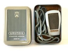 Vintage Grundig Dynamic Microphone GDM15 Dynamisches Mikrofon GDM 15 W. Germany