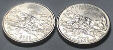 2002 P and D 2 Coin Mississippi Statehood Washington Quarters Set AU Condition