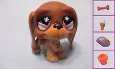 Littlest Pet Shop #665 Brown Basset Hound Puppy Dog +1 FREE Access.100%Authentic