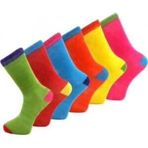 Men's Socks Funky Multi Colors Design Stripes Socks Cotton Blend UK 6-11