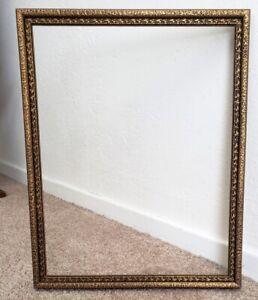 Vintage 1920s Golden 10 3/4 x 13 3/4 Pristine Wood Picture Frame