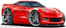 2012-14 Chevy Corvette Grand Sport Wall Decal Game Room Graphics Garage Cling