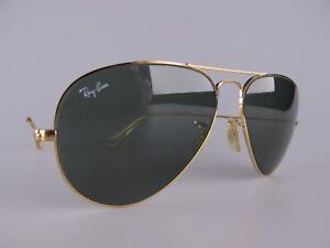 Vintage B&L Ray Ban USA LIC Aviator Sunglasses Size 58-14 Men's Medium