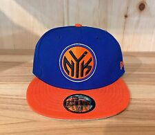 NEW ERA NEW YORK KNICKS  BLUE ORANGE GREY FITTED HAT CAP 59FIFTY MEN SZ 7-8