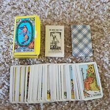 1971 Miniature Tarot Cards Deck Rider Waite Pamela Coleman Complete Instructions