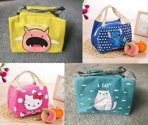 Portable Insulated Lunch Box Cooler Picnic Bag Stitch Hello Kitty - UK Seller