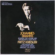 BRAHMS: Concert for Violin, KREISLER EMI Electra Decapo LP NM Germany