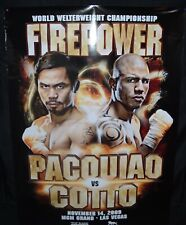 MANNY PACQUIAO vs. MIGUEL COTTO / Original Full Size HBO PPV Boxing Fight Poster
