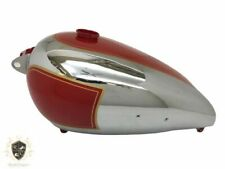 BSA B31 RED PAINTED CHROME GAS FUEL PETROL TANK |Fit For