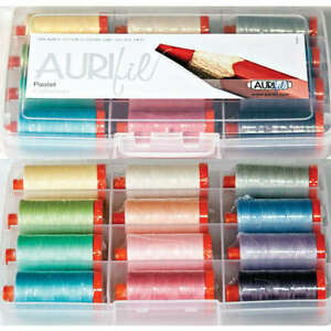 AURIFIL Pastel Collection 50wt Cotton Threads 12 Pack AC50PA12
