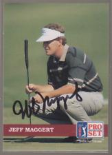 Autographed 1992 Pro Set Jeff Maggert