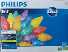 Philips 150 Ct 6 Color Multi Faceted C9 LED Lights ~ NEW Indoor/Outdoor