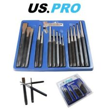 US PRO 16pc Punch & Chisel Set Cold Chisels Center Punch PIN Punch Taper Punch