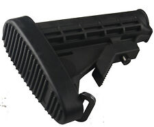 Field Sport Commercial 6 Position Butt Stock Buttstock Black Carbine Polymer Pad