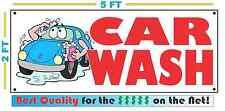 Full Color CAR WASH Banner Sign NEW Larger Size Best Price for The $$$$$