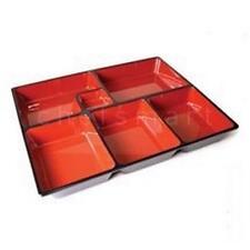 10x Japanese BENTO BOX SUSHI TRAY w/Divider wz12-b/d S-1594x10