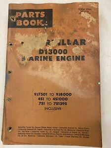 Caterpillar D13000 Marine engine parts manual. Genuine Cat book.