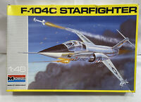 1990 Monogram 1:48 Scale F-104C Starfighter Military Model Airplane - Complete