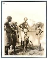 Tchad, Types de Tchad  Vintage silver print. Série de photos avec le sujet d&#03