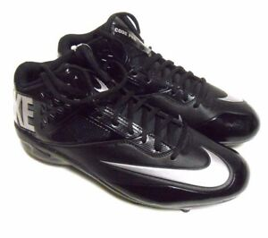 NIKE Oakland Raiders Silver Black Lunar Code Pro Football Cleat Shoes 579669-002