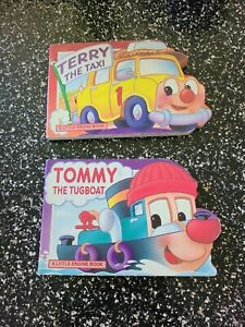 TOMMY THE TUGBOAT & LARRY THE TAXI A LITTLE ENGINE BOOK GRANDREAMS Limited