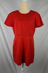 Banana Republic Women's Red Lined Romper Shorts sz 10