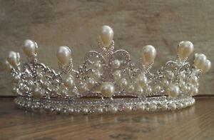 Haarreif Brautschmuck Haarschmuck Strass Perlen Hochzeit 1783