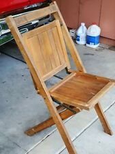 Antique Simmons Manufacturing Company Folding Slatted Wood Chair