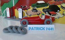 Lot de 4 Pneus crantés  21/8 gris dinky toys