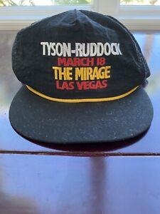 VINTAGE Mike Tyson vs Donovan Ruddock Boxing Hat Las Vegas March 18, 1991