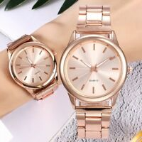 New Luxury Women's Men Fashion Watch Stainless Steel Band Quartz Wrist Watches