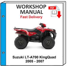 SUZUKI LTA700 KING QUAD 700 2005 2006 2007 SERVICE REPAIR SHOP MANUAL