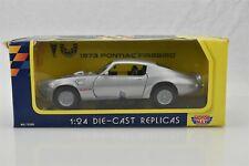 Motor Max 1973 Pontiac Firebird Silver NIP 1:24 Scale #73200