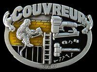 COUVREUR FRENCH ROOFER CONSTRUCTION WORKER BELT BUCKLE BOUCLE DE CEINTURE