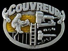 COUVREUR FRENCH ROOFER CONSTRUCTION WORKER TOOLS BELT BUCKLE BOUCLE DE CEINTURE
