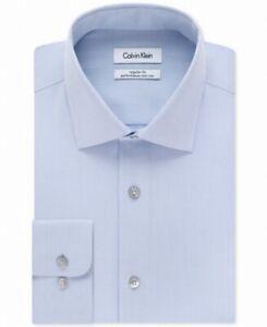Calvin Klein Mens Dress Shirt Light Blue Size 17 Extreme Slim Fit $79- 295
