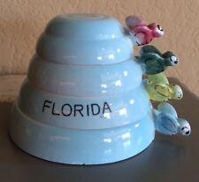 "Vintage Set Measuring Cups/""The Good Measure""/Souvenir of Florida/Bee Handles"