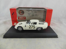 Best Model 9060 Alfa Romeo TZ1 Zagato in White 1963 Monza Racing No. 275