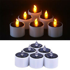 Yellow Solar Power LED Candles Flameless Electronic Solar LED Tea Lights Lamp EB