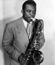 OLD MUSIC PHOTO Jazz Musician Gene Ammons Poses With His Saxophone 2