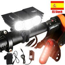 15000lm 3X U2 LED 4-Mode bicicleta de la luz del faro Lampara Luz trasera USB