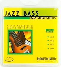 "Thomastik Jazz Bass Short Scale (32"") 43-106 Hofner Flatwound Bass Strings"