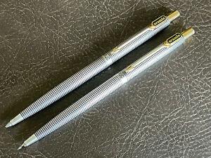 RARE Parker Pen 75 Sterling Silver Cisele Pencil Set ARAMIS Cologne Symbol Estee