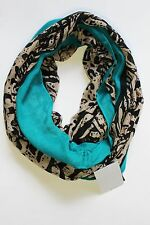 Cejon Women's Wrap Color Block Black Beige Green Animal Print Round Scarf