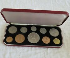 More details for 1953 10 coin uncirculated year set with crown - boxed