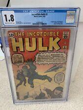 Incredible Hulk#3 CGC 1.8 1st Appearance Of Ringmaster