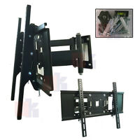 "TAHA064B MOTION HEAVY DUAL ARM TV LCD WALL MOUNT BRACKET TILT SWIVEL UPTO 70"" TV"