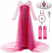 Sleeping Beauty Dress Princess Fancy Costume Girls Party Kids Cosplay Snow Queen