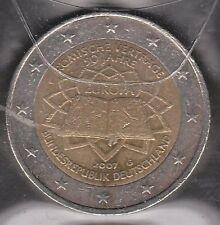G026 Moneta Coin GERMANIA: 2 euro 2007 Commemorativo 50° Ann. Trattato di Roma